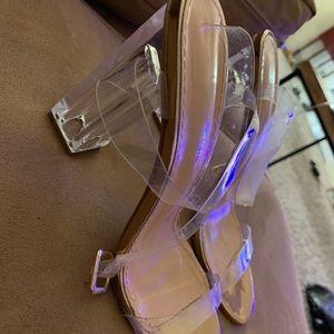 Fashion nova glass heels